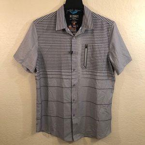 Point Zero Active Compression FitButton Up Shirt L
